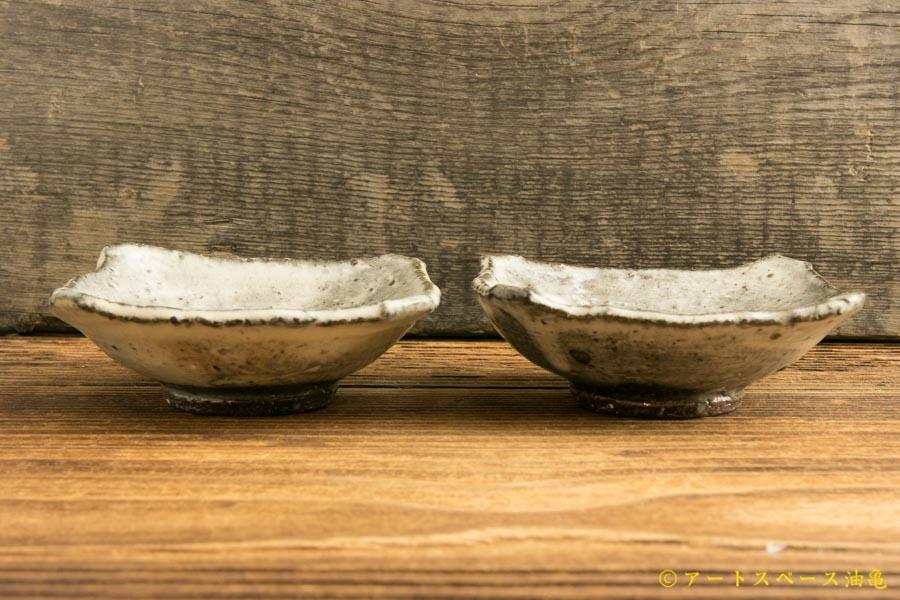 画像3: 梅田健太郎「粉引唐津 四方豆皿」