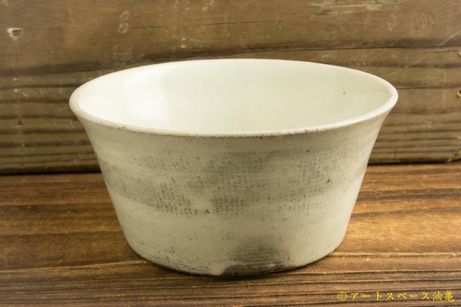 画像1: 八木橋昇 「古粉引き三島 4寸深鉢」