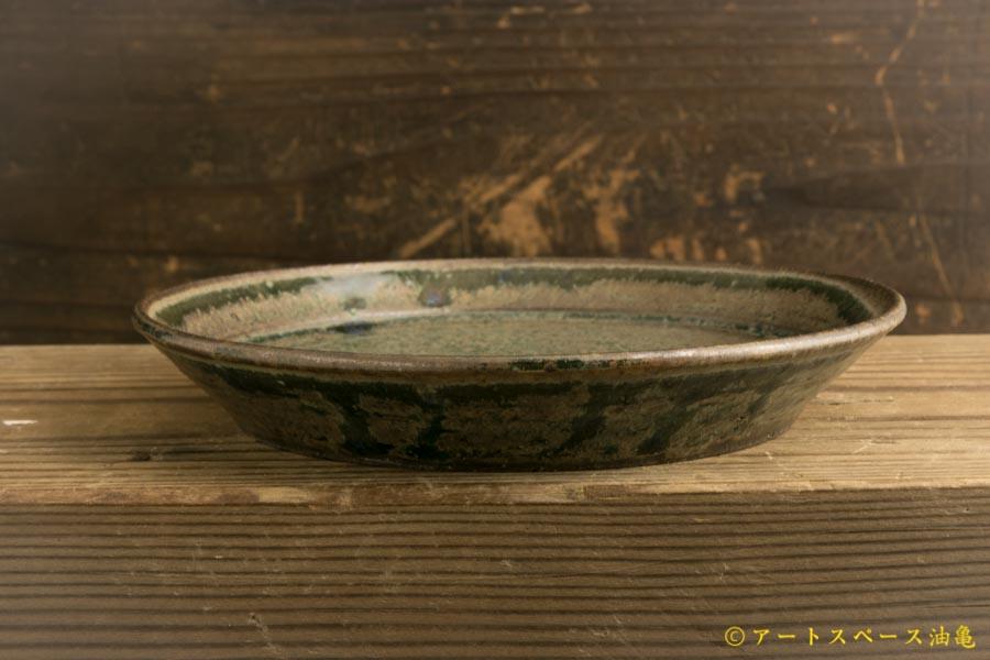 画像2: 八木橋昇「茶呉須 5寸盆皿」