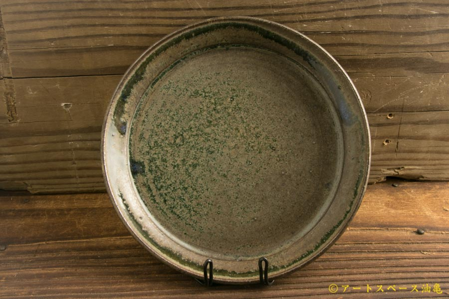 画像1: 八木橋昇「茶呉須 5寸盆皿」