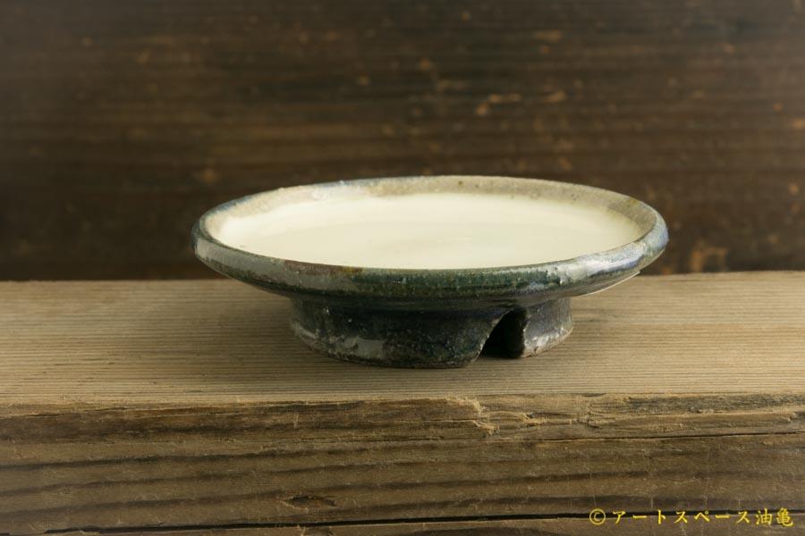 画像2: 八木橋昇「黒呉須化粧 豆台皿」