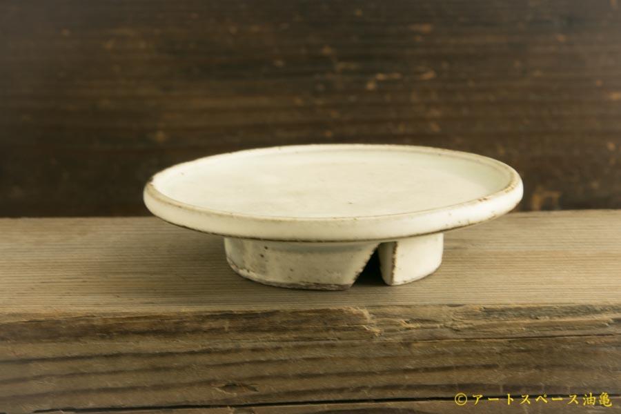 画像2: 八木橋昇「粉引きマット 豆台皿」
