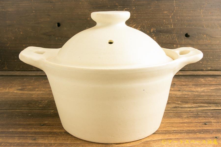 画像1: 八木橋昇 「白 シチュー鍋小 耐熱」