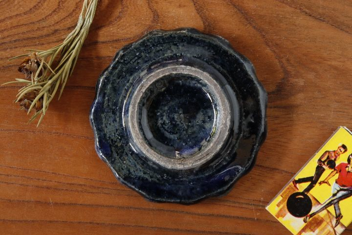 画像3: 八木橋昇 「黒呉須 波皿3寸」
