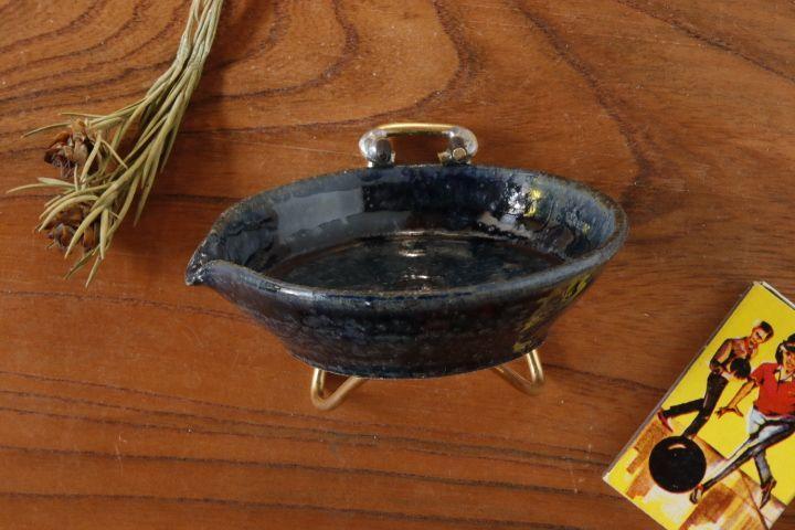 画像3: 八木橋昇 「黒呉須 片口平豆皿」