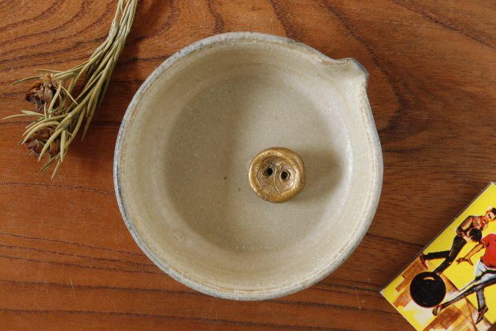 画像2: 八木橋昇 「耐熱 渋青土 片口平豆皿」