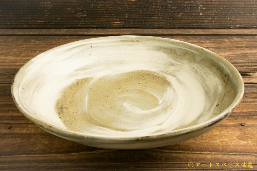 画像2: 八木橋昇「刷毛マット内外 玉縁8寸浅鉢」