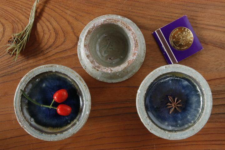 画像2: 山本泰三「信古灰青彩高台豆皿」