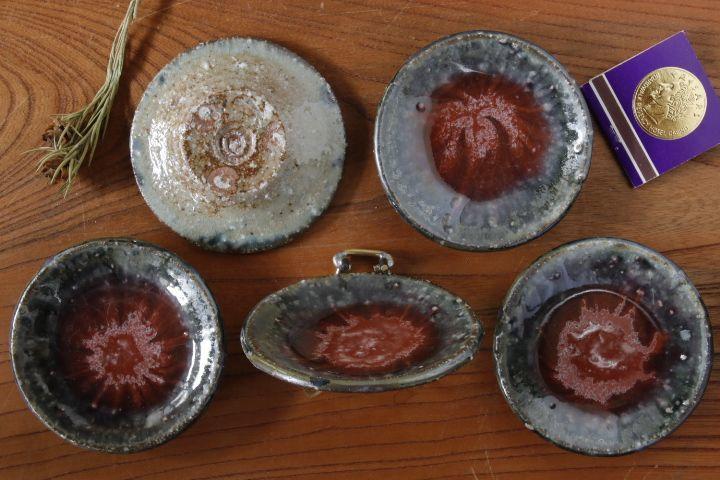 画像2: 山本泰三「信古灰紅彩豆皿」