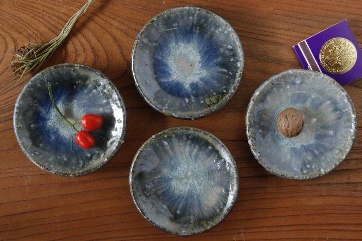 画像1: 山本泰三「信古灰青彩豆皿」