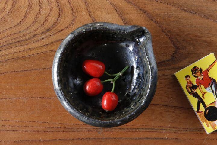画像1: 山本泰三「信古黒流星豆片口」