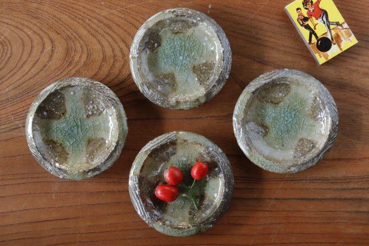 画像1: 山本泰三「信古黄灰彩豆皿」