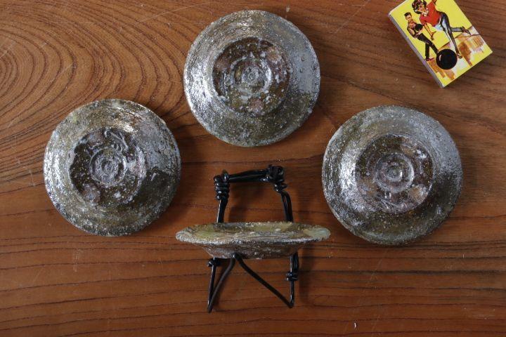 画像2: 山本泰三「信古黄灰彩豆皿」
