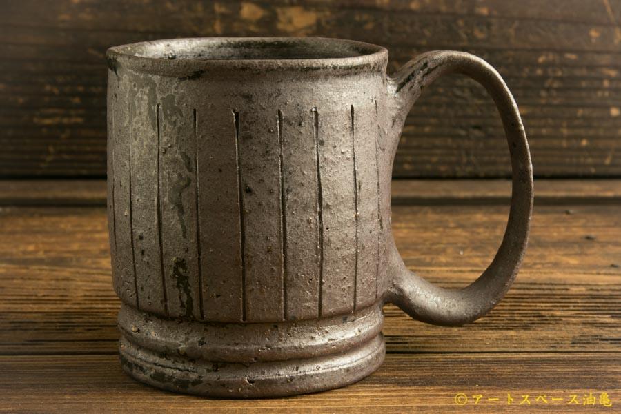 画像1: 山本泰三「野鉄釉線文 マグカップ」