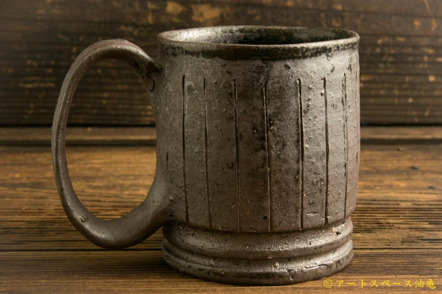 画像2: 山本泰三「野鉄釉線文 マグカップ」