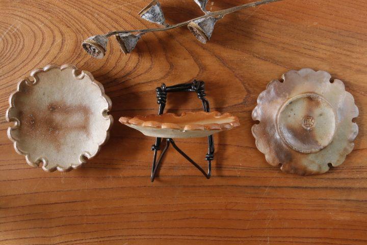 画像3: 山村 富貴子「備前 雪輪豆皿」