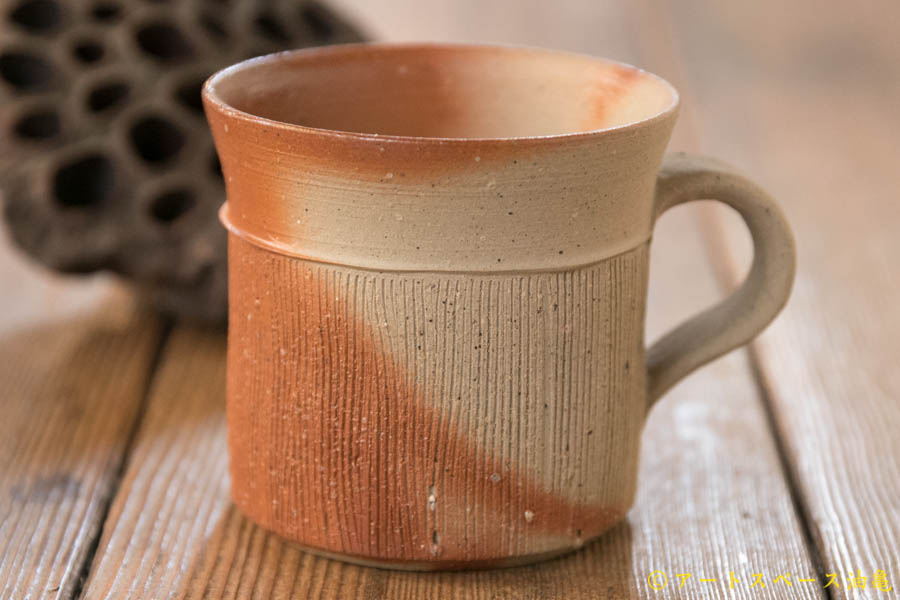 画像1: 山村富貴子 備前 マグカップ