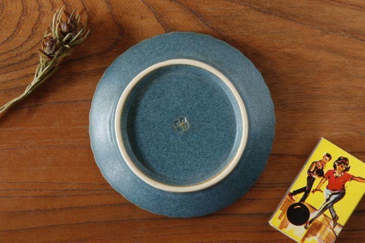 画像2: 山下 透「フリル豆皿(インディゴ・青)」
