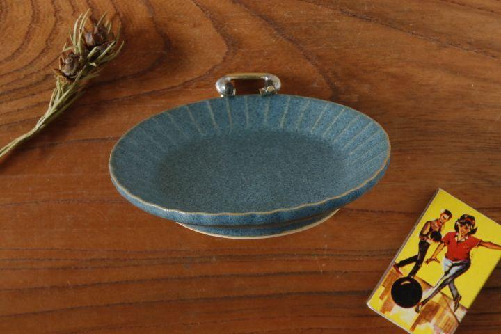 画像3: 山下 透「フリル豆皿(インディゴ・青)」