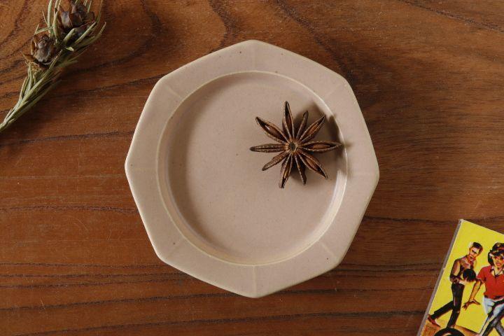 画像1: 山下 透「八角皿9cm(ピンクグレー)」