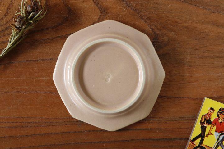 画像2: 山下 透「八角皿9cm(ピンクグレー)」