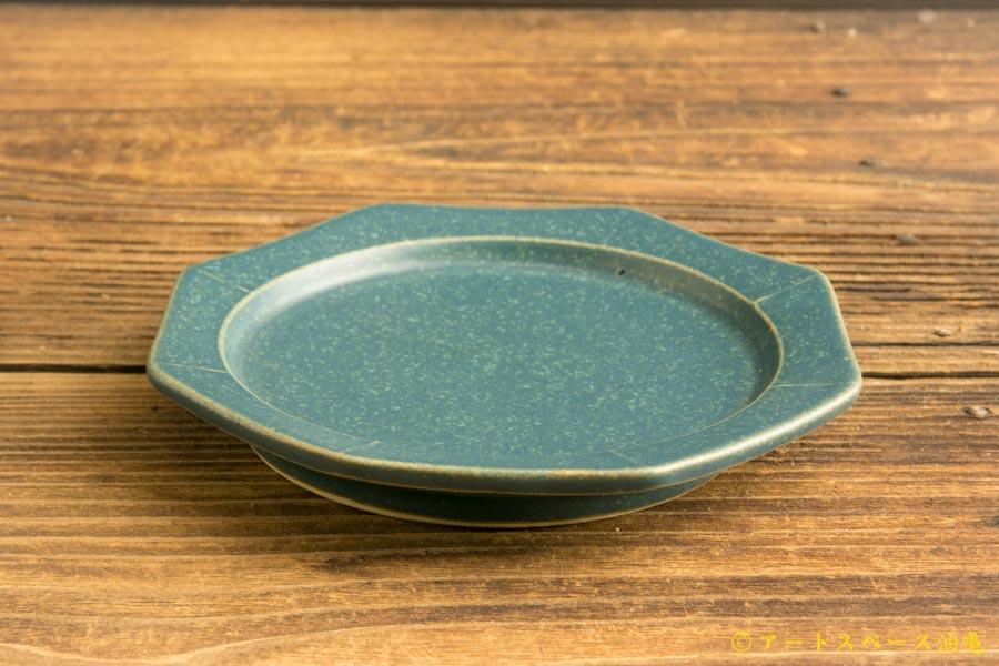 画像2: 山下 透「八角皿12cm (インディゴ・青)」