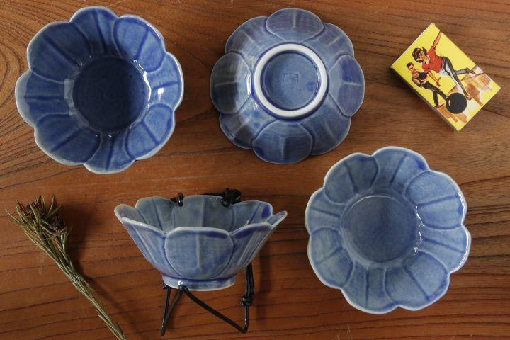 画像2: 柳川謙治「薄瑠璃花豆皿」