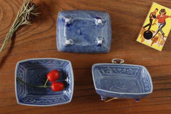 画像2: 柳川謙治「薄瑠璃鹿文豆皿」