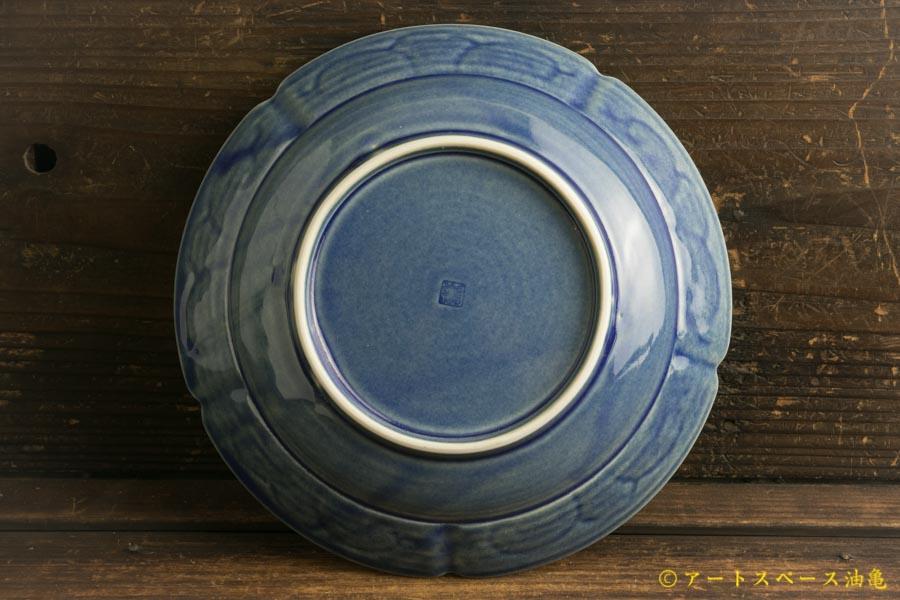 画像4: 柳川謙治「薄瑠璃 陽刻七寸平鉢」