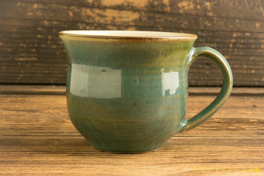 画像1: 柳川謙治「緑釉 マグカップ」