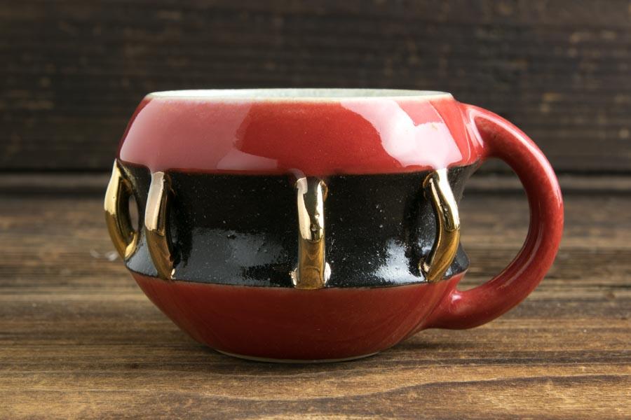画像1: 柳忠義「赤黒金 マグカップ」