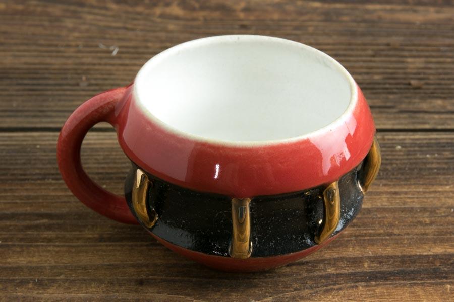 画像2: 柳忠義「赤黒金 マグカップ」
