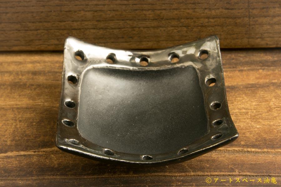 画像2: 柳忠義「黒 豆皿」