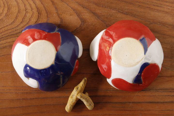 画像2: 柳忠義 トリコロール小皿