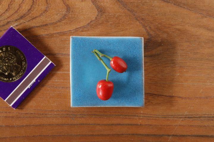 画像1: 柳忠義「半磁 板皿(小)」