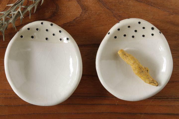 画像2: 柳忠義「白 豆皿」【アソート商品】