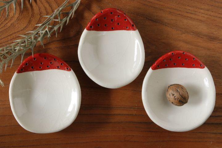 画像2: 柳忠義「赤 豆皿」【アソート商品】