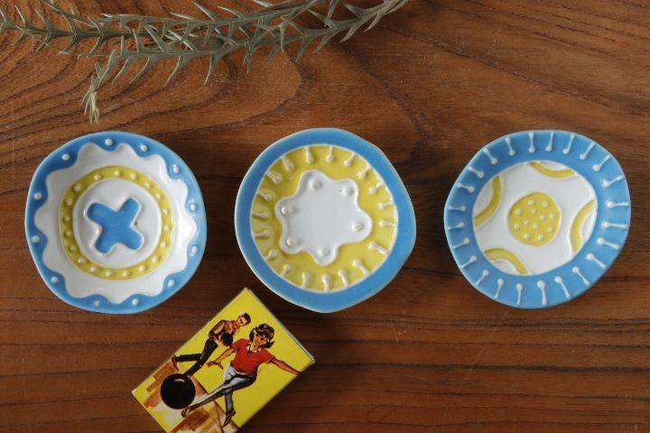画像1: 柳忠義「丸イッチンカラフル 豆皿」
