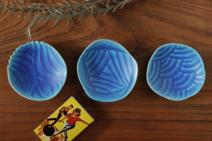 画像1: 柳忠義「半磁ほりこみ(トルコ) 豆皿」