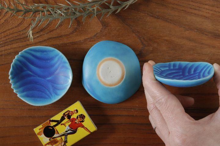 画像2: 柳忠義「半磁ほりこみ(トルコ) 豆皿」