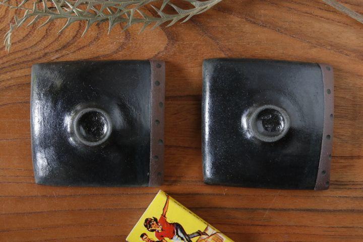 画像2: 柳忠義「黒・茶 豆皿」【アソート商品】