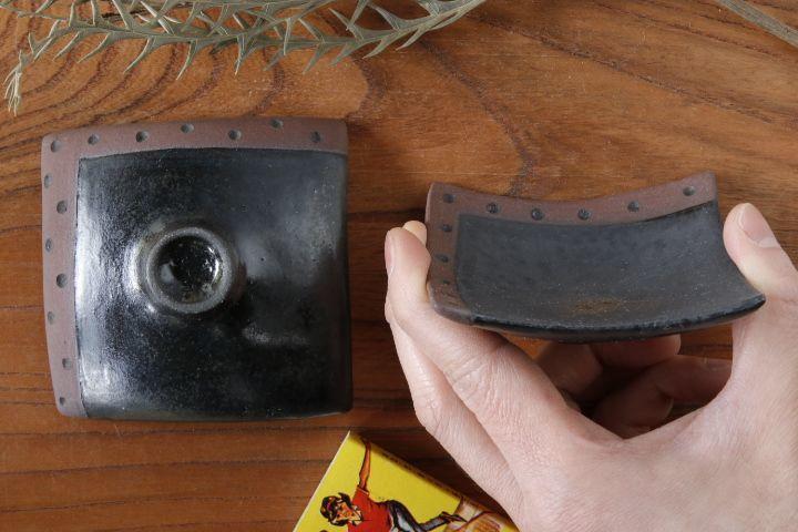 画像3: 柳忠義「黒・茶 豆皿」【アソート商品】