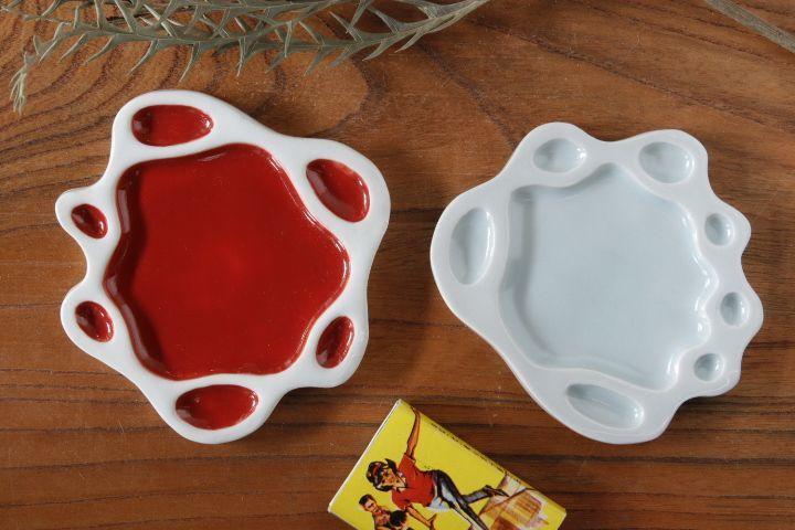 画像1: 柳忠義「半磁器 豆皿」