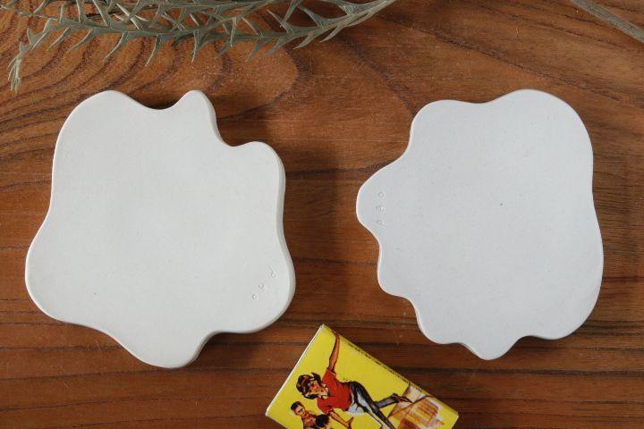 画像2: 柳忠義「半磁器 豆皿」