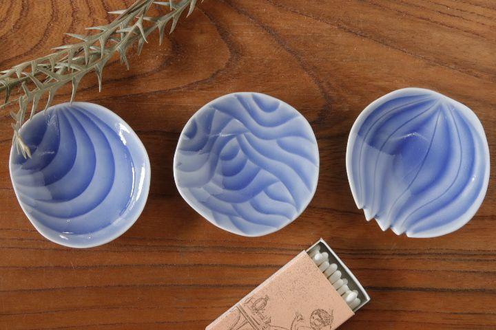 画像1: 柳忠義「半磁ほりこみ 豆皿」