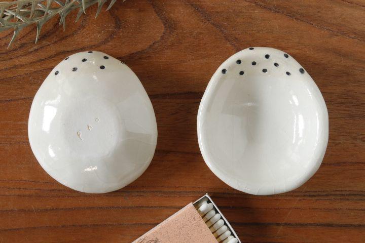 画像1: 柳忠義「白 豆皿」【アソート作品】