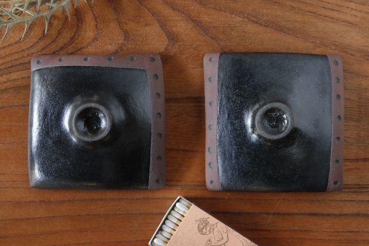 画像2: 柳忠義「黒・茶 豆皿」
