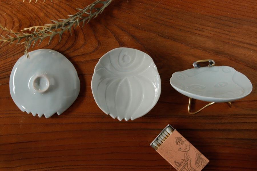 画像3: 柳忠義「ほりこみ青白磁 豆皿」