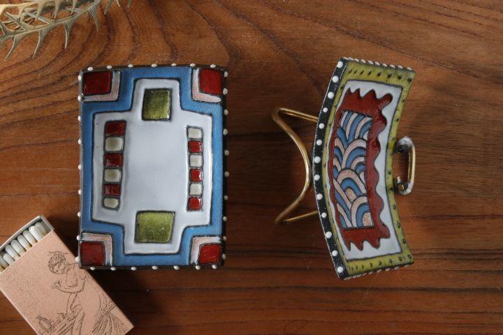 画像2: 柳忠義「角イッチンカラフル 豆皿」