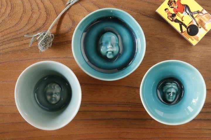 画像1: 柳忠義「顔 豆鉢」